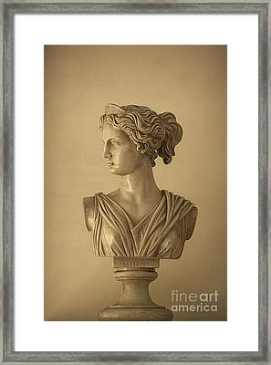 Bust Of Artemis Framed Print by Diane Diederich