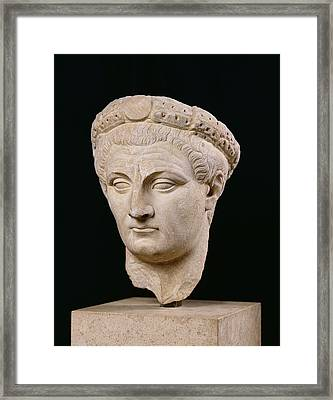 Bust Of Emperor Claudius Framed Print by Anonymous