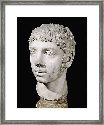 Bust Of Heliogabalus. 3rd C. Roman Art Framed Print by Everett