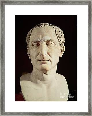 Bust Of Julius Caesar Framed Print by Anonymous
