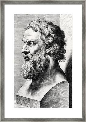 Bust Of Plato  Framed Print by Lucas Emil Vorsterman