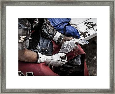 Busted But Not Broken Framed Print by Amber Kresge