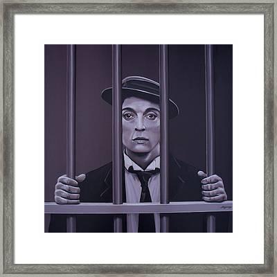 Buster Keaton Painting Framed Print by Paul Meijering