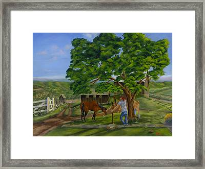 Buster's Retreat Framed Print by William Allen