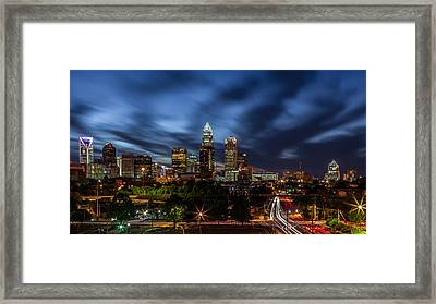 Busy Charlotte Night Framed Print by Chris Austin