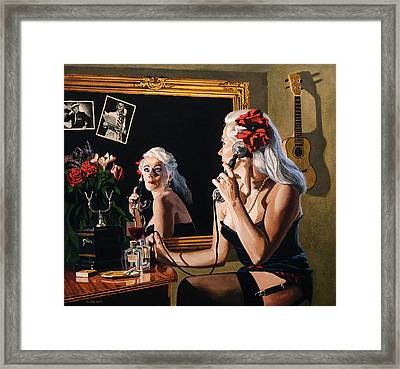 Busy Line Framed Print by Jo King