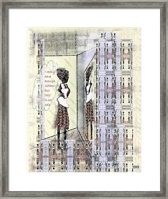 But This Is On Sale Framed Print by Lorna Bush