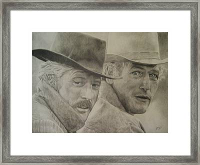 Butch Cassidy And The Sundance Kid Framed Print by Robbie Douglas