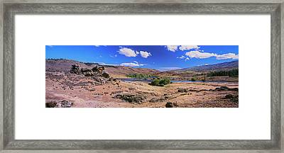 Butchers Dam Close To Alexandra Framed Print by Panoramic Images