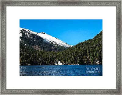 Butedale Falls Framed Print by Robert Bales