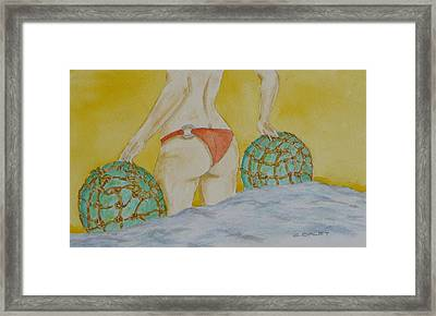 Butt And  Bouys Framed Print by Charles  Daley