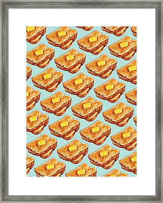 Buttered Toast Pattern Framed Print by Kelly Gilleran