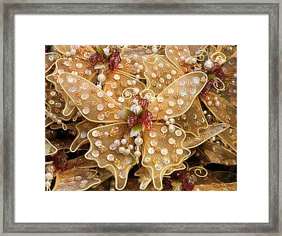Butterflies For Sale Framed Print by Linda Phelps