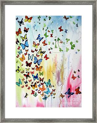 Butterflies Framed Print by Tom Riggs