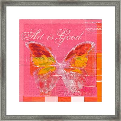 Butterfly Art - P11aig13a_ Art Is Good Framed Print by Variance Collections