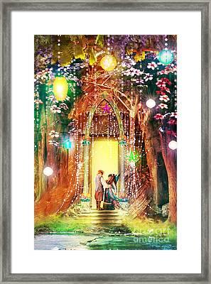 Butterfly Ball Lovers Framed Print by Aimee Stewart