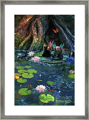 Butterfly Ball Pond Framed Print by Aimee Stewart