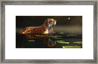 Butterfly Contemplation Framed Print by Aaron Blaise