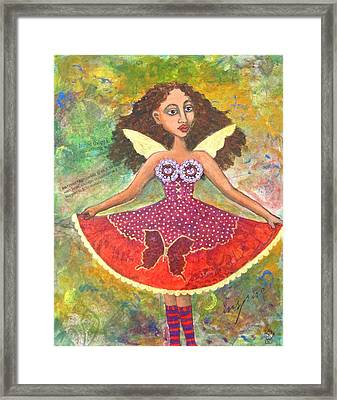Butterfly Dress Framed Print by Sharon Woodward