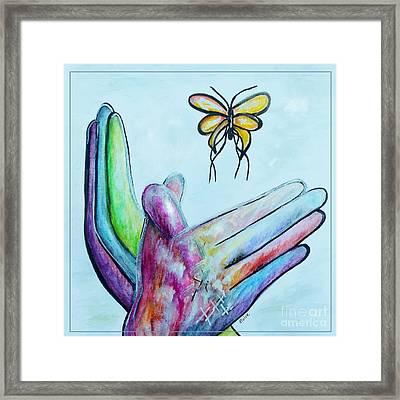 Butterfly Framed Print by Eloise Schneider