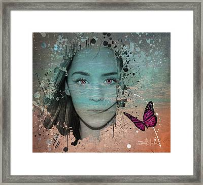 Butterfly Eyes Framed Print by Isabel Salvador
