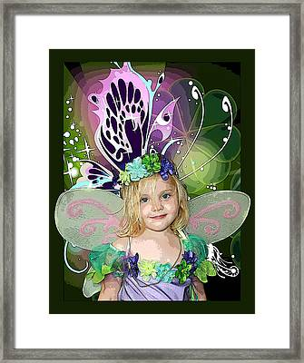 Butterfly Fairy Framed Print by Ellen Henneke