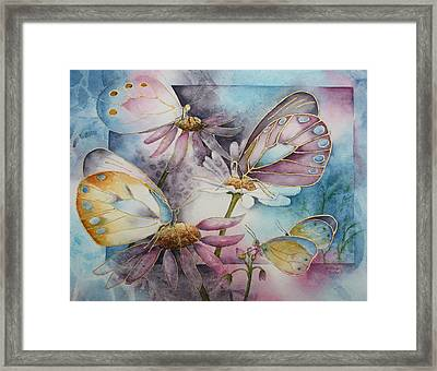 Butterfly Garden Framed Print by Patsy Sharpe