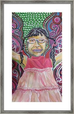 Butterfly Girl Framed Print by Cherie Sexsmith