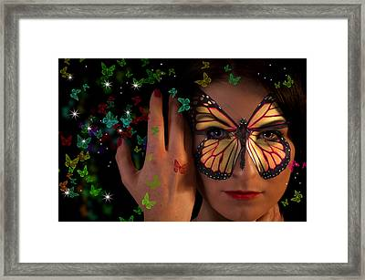 Butterfly Girl Framed Print by Nathan Wright