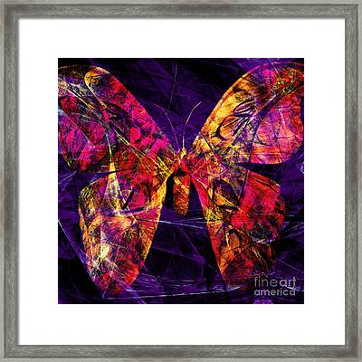 Butterfly In Abstract Dsc2977 Square Framed Print by Wingsdomain Art and Photography
