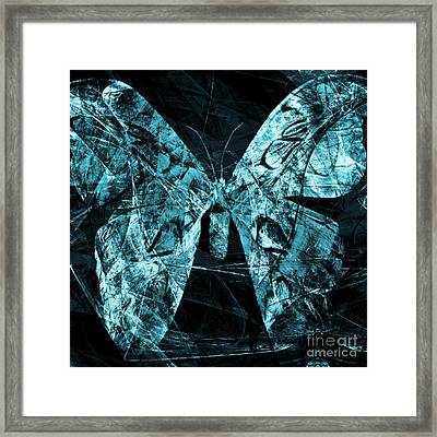 Butterfly In Abstract Dsc2977cy Square Framed Print by Wingsdomain Art and Photography