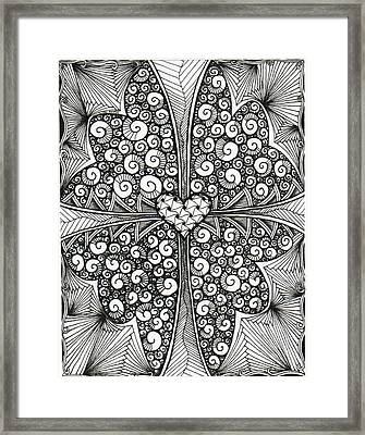 Butterfly Love Framed Print by Jessica Swanson