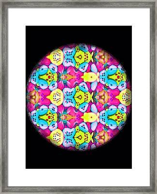 Butterfly Mandala Framed Print by Karen Buford