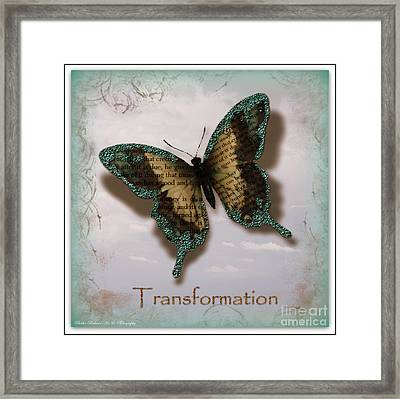Butterfly Of Transformation Framed Print by Bobbee Rickard