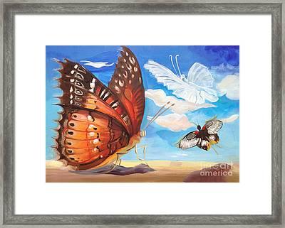 Butterfly Paysage 2 Framed Print by Art Ina Pavelescu