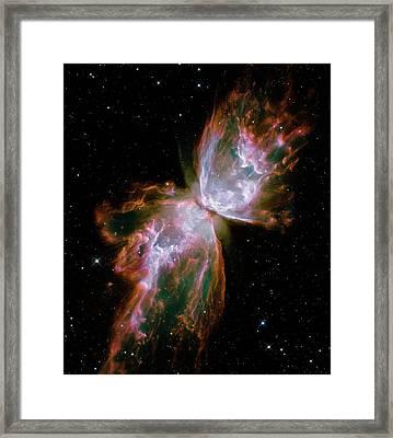 Butterfly Planetary Nebula Framed Print by Nasa/esa/stsci/hubble Sm4 Ero Team