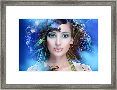 Butterfly Framed Print by Sergey Smirnov