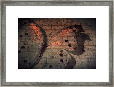 Butterfly Sunset Symphony Framed Print by Marianna Mills