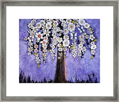 Butterfly Tree Framed Print by Blenda Studio