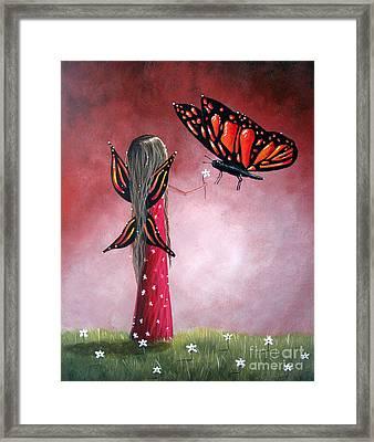 Butterfly Whisperer By Shawna Erback Framed Print by Shawna Erback