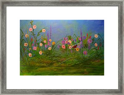 Butterflys Dream Land  Framed Print by Michael Mrozik