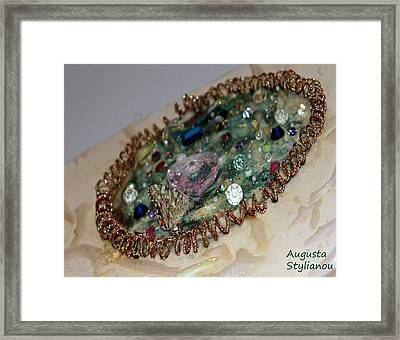 Butterfy On A Painting Framed Print by Augusta Stylianou