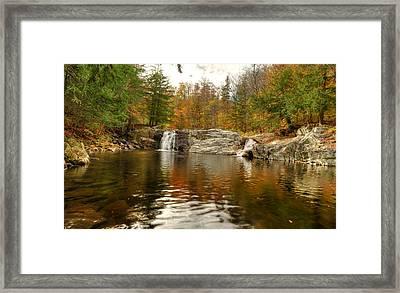 Buttermilk Falls Framed Print by Dennis Clark