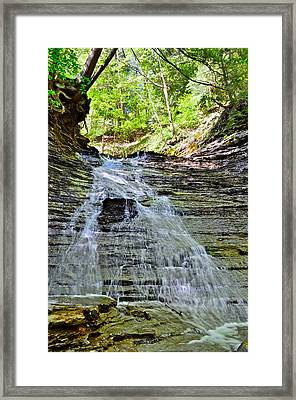 Butternut Falls Framed Print by Frozen in Time Fine Art Photography