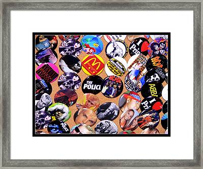 Button Crazy Framed Print by Kip Krause