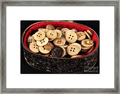 Button Treasures Framed Print by John Rizzuto