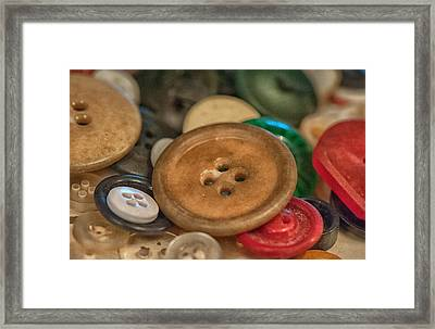 Buttons Framed Print by Brenda Bryant
