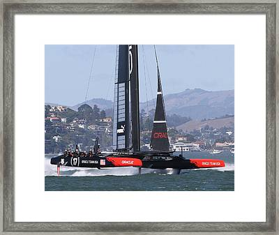 Oracle America's Cup 34 Framed Print by Steven Lapkin