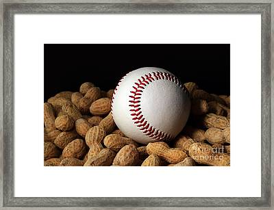 Buy Me Some Peanuts - Baseball - Nuts - Snack - Sport Framed Print by Andee Design