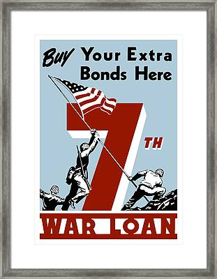 Buy Your Extra Bonds Here Framed Print by War Is Hell Store